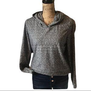 Gap black marbled long sleeved hoodie sweatshirt